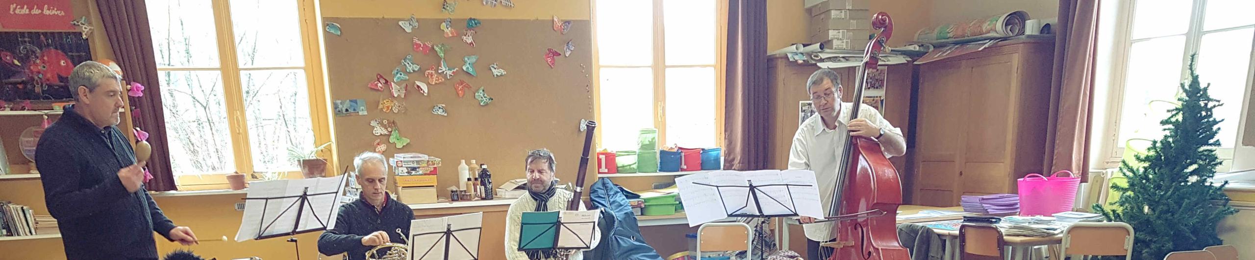 Des musiciens dans mon école